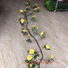 Dây Hồng xoăn cổ 3 mét cao cấp – Hoa lụa cao cấp
