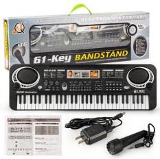 Đàn piano điện tử 61 phím tặng kèm Micro và cục sạc,Đàn điện organ cho bé.