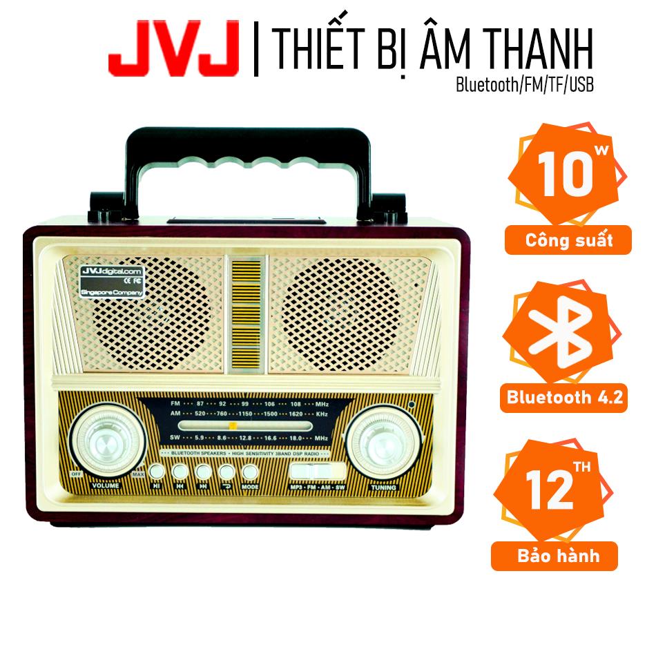 Radio cổ Retro Loa đài FM/Bluetooth KMA MD1802BT JVJ kiểu dáng cổ điển – Hỗ trợ FM / AM / SW 3 band DSP Radio, đài FM, Bh 12 tháng 1 đổi 1