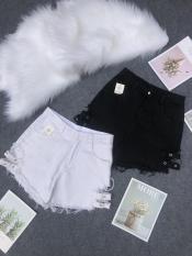 [ SALE CỰC ĐỈNH ]Quần short nữ kaki lưng cao rách lai đính khoen cực chất -quần short kaki nữ – quần đùi nữ