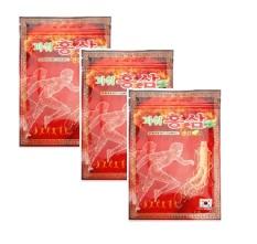 COMBO 3 gói cao dán hồng sâm sâm giảm đau 20 miếng / gói – POWER RED GINGSENG