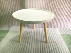 BSF – Bàn tròn viền trắng 60×45, bàn trà, bàn sofa, bàn cafe, coffee, cà phê, bàn gỗ phòng khách