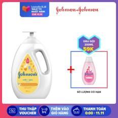 Sữa tắm Johnsons baby milk oat chứa sữa và yến mạch 1000ml (MỚI) – 100977932 – Giới hạn 3 sản phẩm/khách hàng