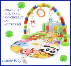 Thảm nhạc piano cao cấp cho bé nằm chơi có nhạc và đồ chơi lục lạc – Thảm nhạc cho bé