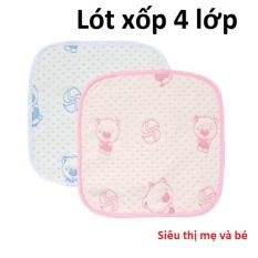 Lót chống thấm thay bỉm cho bé sơ sinh 4 lớp siêu mềm siêu thấm kích thước 30 x30cm