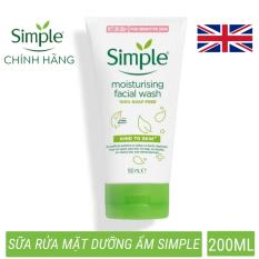Sữa rửa mặt dưỡng ẩm làm sạch sâu Simple (CHÍNH HÃNG) Moisturising Facial Wash phù hợp da khô, cấp ẩm da mềm mượt (150ml)
