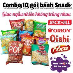 Combo 10 Bánh Snack / Giao ngẫu nhiên không trùng nhau – Có vị cay