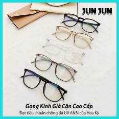 Tặng kèm hộp + Khăn Lau – Mắt kính giả cận cao cấp gọng dẻo dành cho cả nam và nữ JJCK6178 – Gọng kính cận không độ Hàn Quốc – Bảo hành 12 tháng