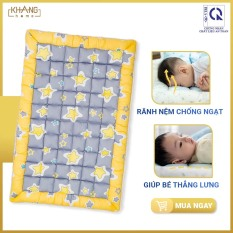 Nệm Trẻ Em Chần Bông Khang Home BabySafety An Toàn Giấc Ngủ Cho Bé Sơ Sinh Size 80x125cm