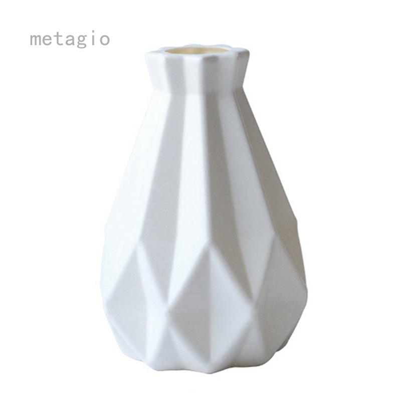 Metaio Origami Bình Nhựa Giả Gốm Flower Pot Flower Vase Phong Cách Bắc Âu Trang Trí Nội Thất