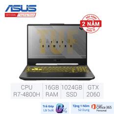 [Voucher 10% từ 12-14.12, Tặng Office 365] Trả góp 0% Laptop Gaming ASUS TUF FA506IV-HN202T (AMD R7-4800H/ RTX 2060 6GB/ 16GB (8GB x2) DDR4 3200MHz/ 1TB PCIe Gen3 SSD/ 15.6 FHD IPS, 144Hz/ Win10)