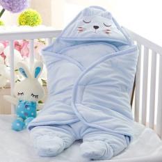 Chăn ủ có chân cho bé sơ sinh, 2 màu xanh – hông cho mẹ lựa chọn