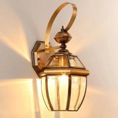 Đèn treo tường, đèn chùa đồng gắn tường Đồng Nguyên Chất mã DGT 1002 + Tặng kèm bóng Led Edison