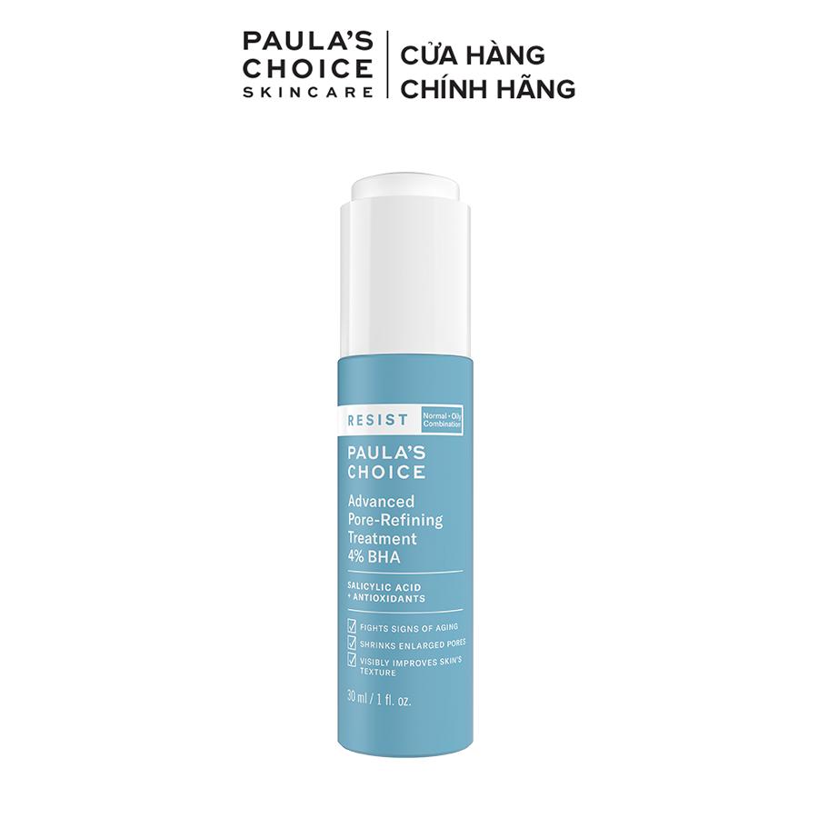 Lotion tái tạo và phục hồi da mụn Paula's Choice Resist Advanced Pore – Refining Treatment 4% BHA 7791