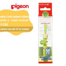 Bàn chải đáng răng Pigeon bước 3 – màu xanh lá nhạt