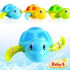 Rùa bơi vặn dây cót đáng yêu đồ chơi bồn tắm cho bé bằng nhựa nguyên sinh ABS an toàn đủ màu sắc kích thích trí não phát triển Baby-S – SDC021