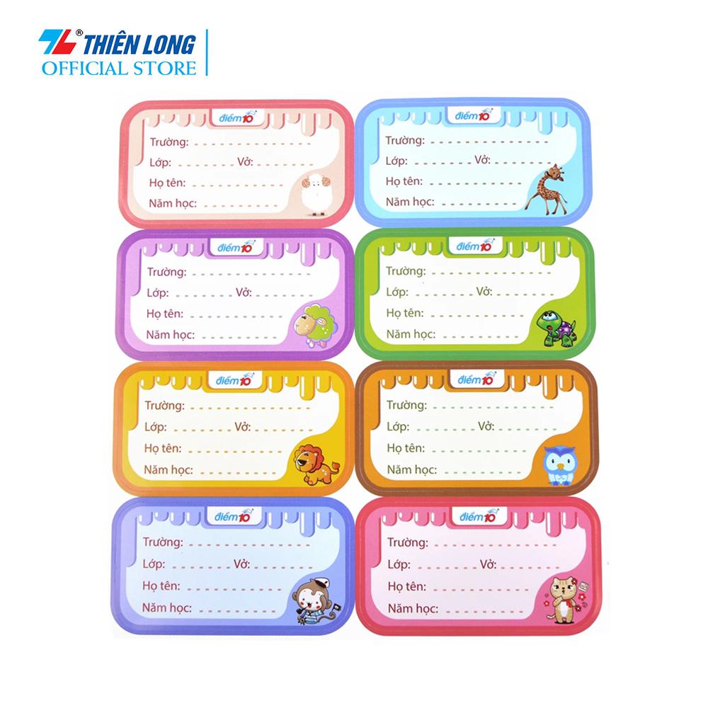 Nhãn vở Điểm 10 TP-NBL03 5 xấp (8 cái/xấp) – Túi gồm 40 nhãn