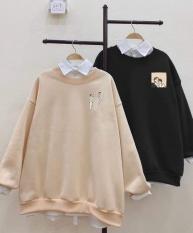 Áo sweater nỉ đôi bạn than (trong luong tu 38kg tro len )