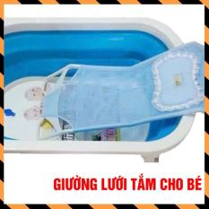 Giường lưới tắm kèm gối cho bé