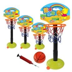Bộ bóng rổ thể thao xách tay có thể điều chỉnh cho trẻ mới biết đi chơi trong nhà, ngoài trời với bơm và bóng