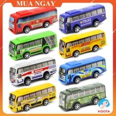 Đồ chơi mô hình xe bus kéo thả quán tính chất liệu nhựa an toàn cho bé XMH02 (1 chiếc)
