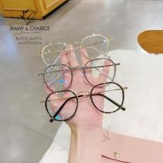 Gọng Kính Cận Nữ Jimmy & Charice Mắt Tròn Nobita Càng Kính Kim Loại Có Cắt Mắt Cận Loạn Viễn Theo Yêu Cầu