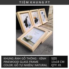 Bộ 05 Khung ảnh để bàn 13x18cm – Khung hình gỗ thông mặt kính – Khung ảnh cưới trang trí bàn tiệc – Picture Frame – Tiệm Khung PT