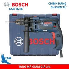 Máy khoan Bosch, Máy khoan đa năng, Máy khoan tường, Máy khoan động lực Bosch chính hãng GSB 16 RE cải tiến (Xuất xứ Malaysia, bảo hành điện tử 12 tháng, Công suất 750W) Là Máy được khách hàng đánh giá cao nhất trong dòng Khoan động lực