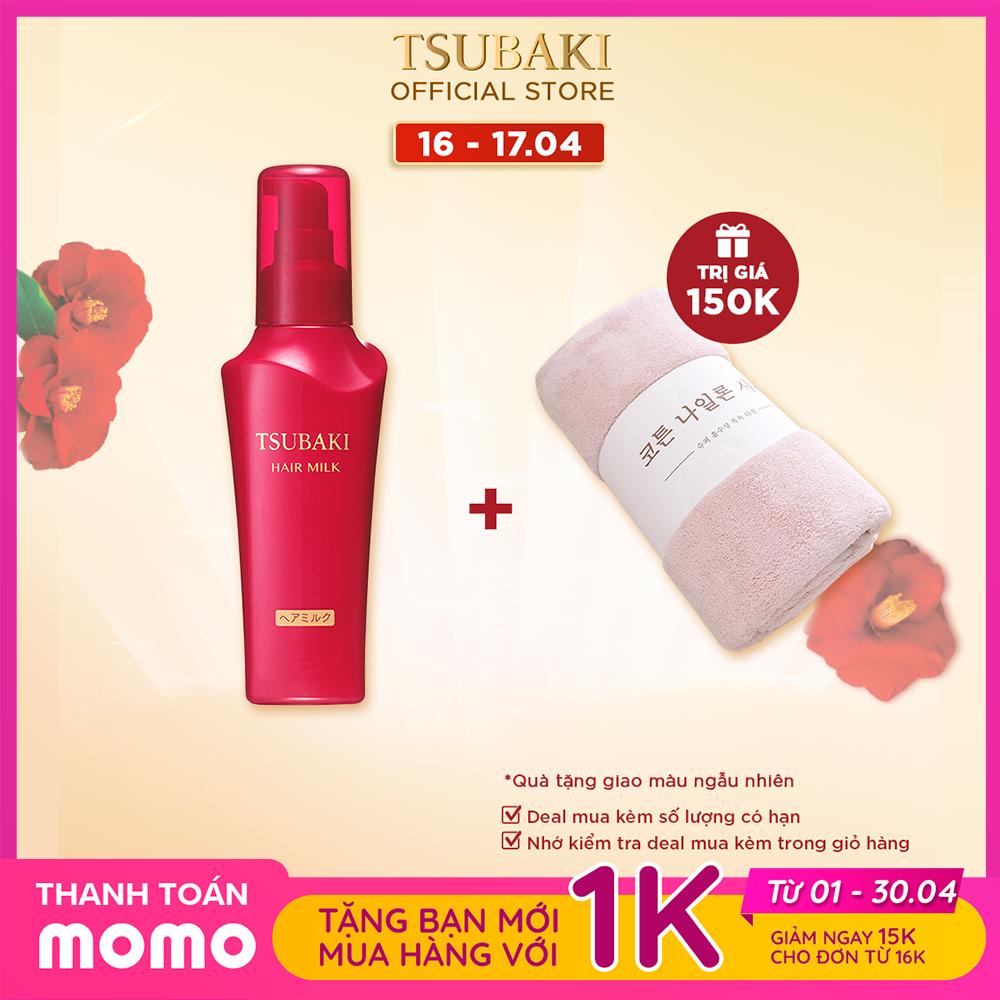 [TẶNG KHĂN TẮM TSUBAKI] Sữa dưỡng tóc chống nắng – Phục hồi hư tổn TSUBAKI HAIR MILK 100ML