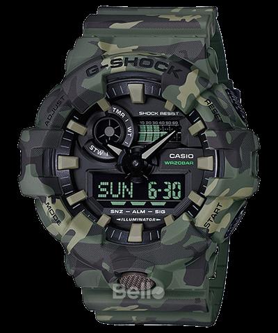 Đồng hồ Casio G-Shock Nam GA-700CM-3A chính hãng chống va đập, chống nước 200m – Bảo hành 5 năm – Pin trọn đời