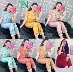 PIJAMA TNQD KATE LỤA,Đồ Bộ Pijama Tay Ngắn Quần Dài Vải Kate Lụa Mềm Mịn Phối VIỀN Siêu Xinh Dưới 57kg CAM KẾT GIAO ĐÚNG MẪU Nguyên Khánh Store
