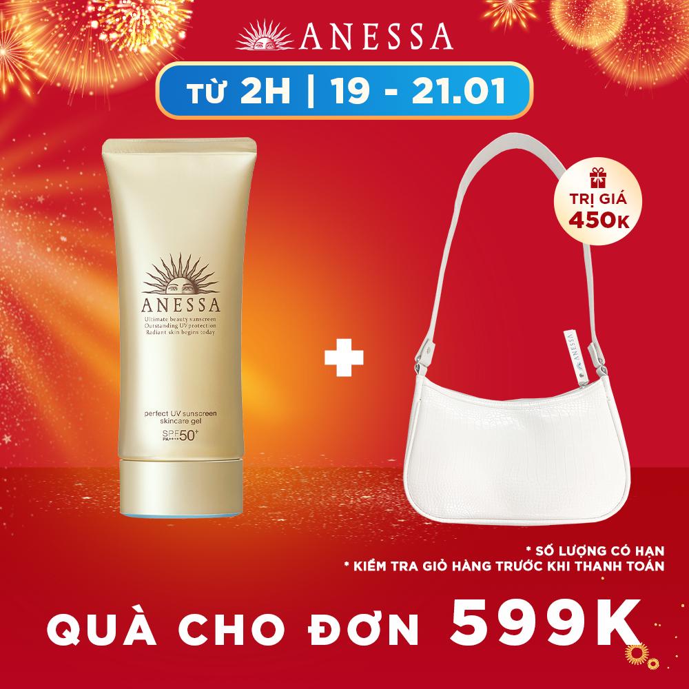 [ BILL 599K TẶNG QUÀ 564K ] Gel chống nắng dưỡng ẩm chuyên sâu bảo vệ hoàn hảo Anessa Perfect UV Sunscreen Skincare Gel – SPF50+ PA+++++ – 90g