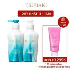 Bộ đôi dầu gội và dầu xả suôn mượt mềm mại Tsubaki Smooth 450ml/chai
