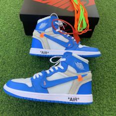 (FREESHIP) [ Ảnh thật] giầy thể thao Air Jordan 1 trắng xanh thời trang