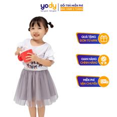 Chân váy cho bé gái chính hãng YODY chất liệu vải lót lụa habutai mềm mát- KID4095