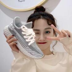 Giày thể thao sneaker nữ chất vải mềm siêu đẹp dây dạ quang phát sáng có 3 màu đen xám hồng thỏa sức lựa chọn