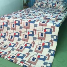 Bộ drap phòng ngủ Thang Loi 1.6m*2m winter 1, kem men, in logo cty.