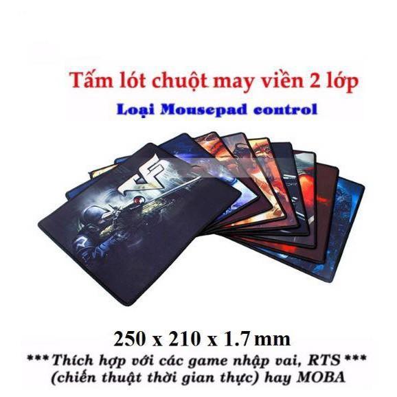 Lót Chuột Nhiều Mẫu Cực Đẹp Mousepad Control (Hình ngẫu nhiên), Bàn Di Chuột Chơi Game PUBG, LOL, Đột Kích...
