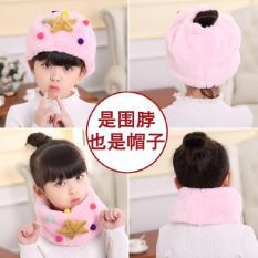 Mũ len kiêm khăn ống thời trang siêu ấm cho bé gái