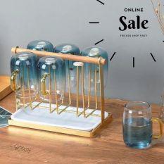 Giá úp ly cốc GL07 kèm khay hứng nước