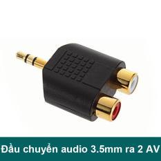 Đầu chuyển Audio 3.5mm ra 2 đầu AV R+L – Đầu đổi 2 AV RCA cái ra 2 đầu 3.5mm đực