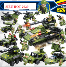 Bộ Đồ Chơi Lắp Ráp Xe Tăng Lego 138 Chi Tiết Bền Đẹp Xếp Được 6 mô hình trong 1-minhhanh588
