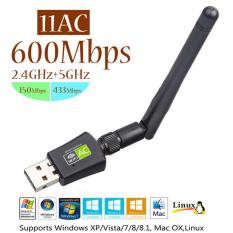 Bộ chuyển đổi USB wifi thu sóng tốc độ cao băng tần kép 2.4G / 5G 802.11AC 600Mbps, có anten, thu phát sóng wifi 5G