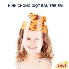 Kính chống giọt bắn cho bé, Kính chống dịch Face shield cho bé 1-10 tuổi đệm mút xốp an toàn tiện lợi cho bé yêu mang khi ra đường Baby-S – SK023