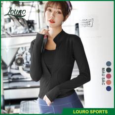 Áo khoác nữ thể thao tay dài Louro AKL12, chất liệu co giãn 4 chiều, phù hợp tập gym, yoga, zumba