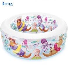 Bể bơi phao cho bé hình đại dương INTEX 58480, hồ bơi trẻ em bơm hơi tiện dụng, có 3 tầng, hình tròn, phù hợp cho 2 – 3 bé cùng tắm – Chính hãng INTEX, Bảo hành 12 tháng