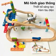 Đồ chơi mô hình lắp ráp đường ray xe điện