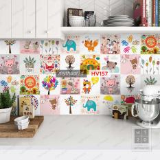 Decal gạch bông trang trí dán bếp dán tường dán phòng – HV157