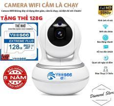 [ Tặng Thẻ Nhớ 128Gb ] Camera IP Wifi Yoosee Không Râu Quay 360° Đàm Thoại 2 Chiều