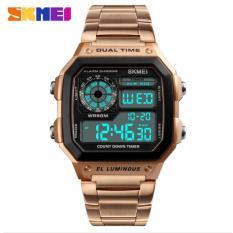 Đồng hồ thể thao điện tử nam Skmei 1335 Digital Watch chống nước tốt dây thép không gỉ (M Chọn màu)